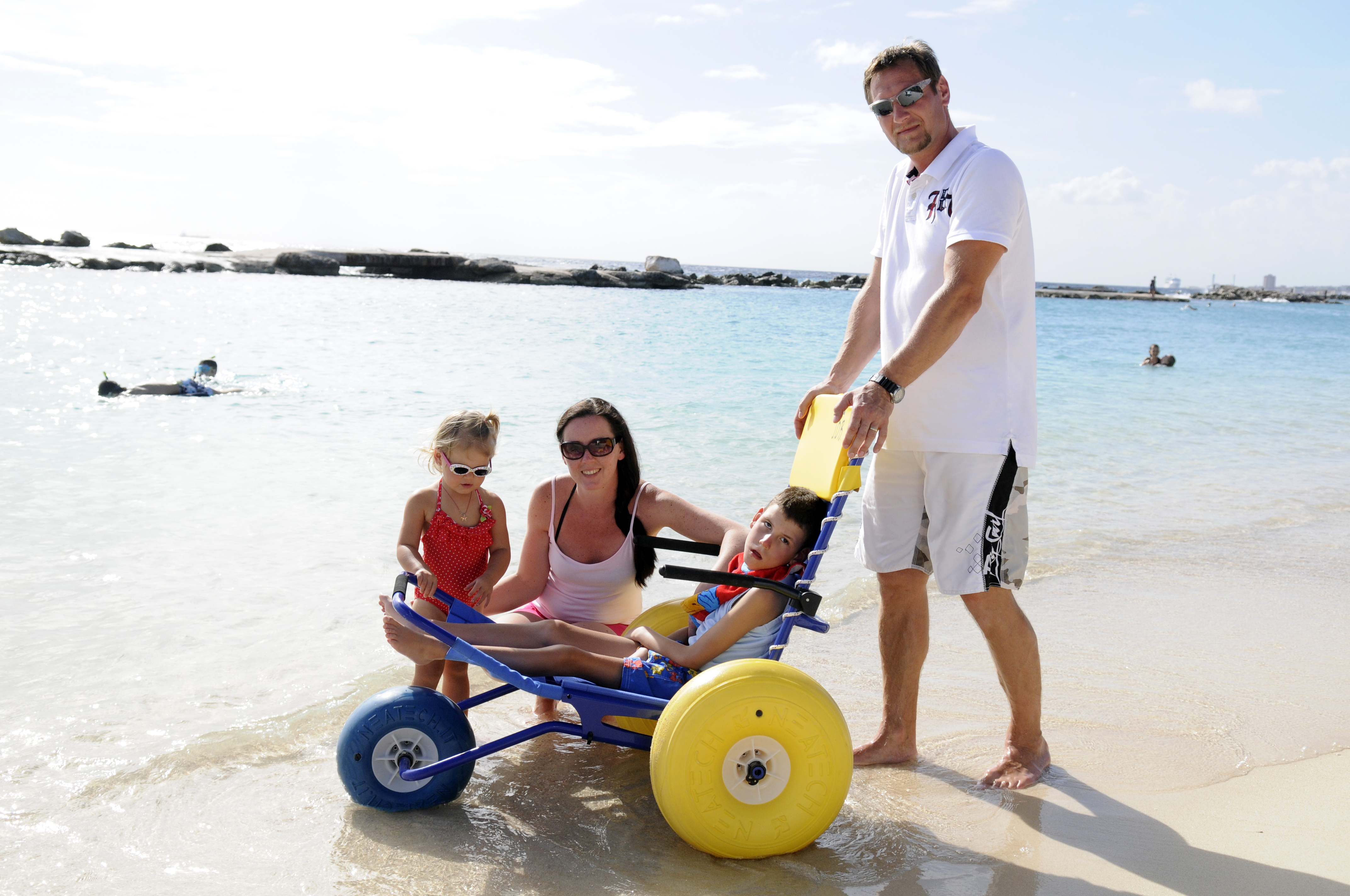 mambo beach with beachwheelchair